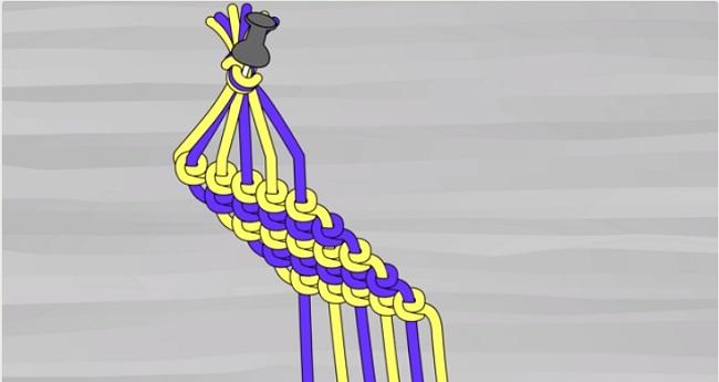 cách làm vòng tay handmade bằng chỉ thêu
